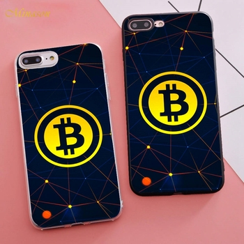 Minason Trending Coque Dollar Bitcoin Fitted Housings Phone Case for iPhone X 5s SE 6 S 6s 7 8 Plus Cover Rubber Bumper