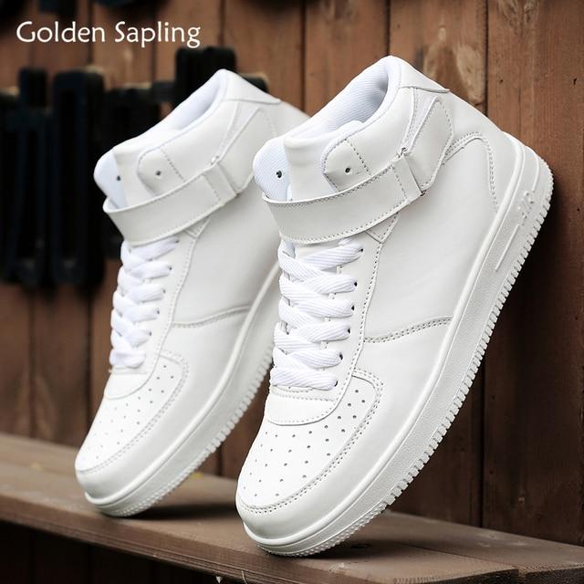 Golden Sapling Men's Sport Shoes for Skateboarding Breathable Sneakers Men High Top Platform White Skateboard Shoes Man Sneaker