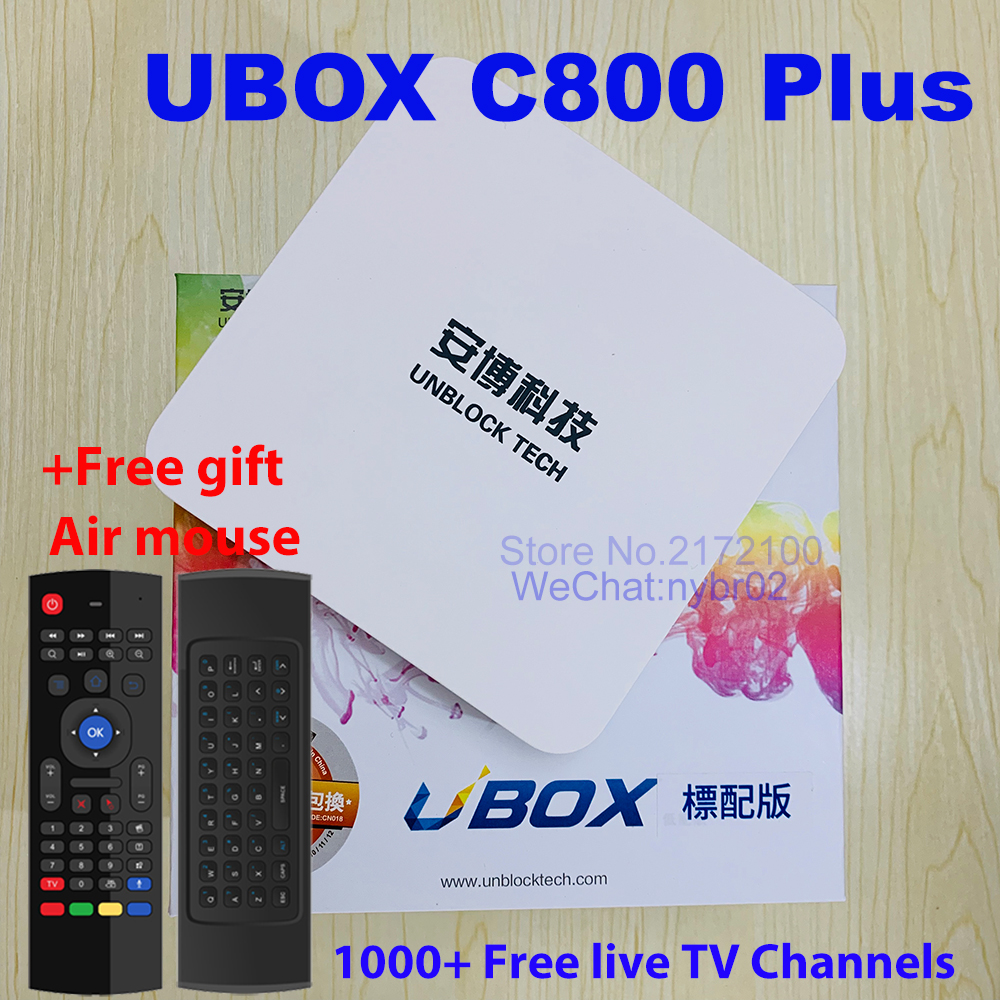 Unblock Tech TV BOX UBOX 4 OS version IPTV Android tv box Free LIVE SmartTV  Box Bluetooth HD 4K 1G+8G 1000 Free Live TV Channels