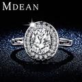 Mdean белый позолоченный обручальные кольца для женщин ааа CZ ювелирных изделий с бриллиантами женщин обручальные кольца большой аксессуары бижутерия MSR295