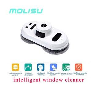 MOLISU darmowa wysyłka W5 odkurzacz robot płyn do szyb Auto czyste anti-spada inteligentne okno szkło cleanercontrol