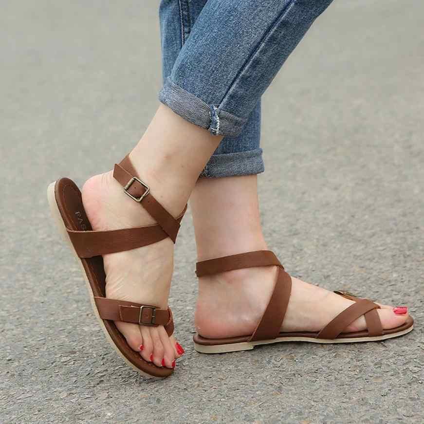 b15afd18720c ... mokingtop women shoes sandals Womens Ladies Flat Wedge Espadrille Rome  Tie up Sandals Platform Summer Shoes ...