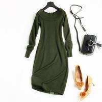 Women Vintage Dresses Autumn Elegant 2017 New Arrival Woman Slim Knit Dresses Vestidos Vintage Retro Vestido