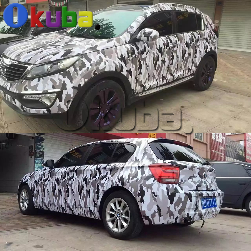 jumbo black white camouflage film wrap matte car wrapping. Black Bedroom Furniture Sets. Home Design Ideas