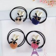 Хан издание новой моды волосяная луковица круг солнцезащитные очки кролик волос веревки 10 шт.