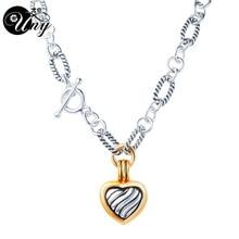 UNY модные подвески, ожерелья, антикварное ожерелье с подвеской в виде сердца, ожерелье с подвеской, Женские Подвески, ожерелье с подвеской, подарок