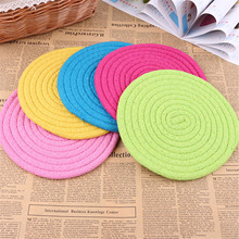 Candy-Color Pet Dog Toys Frisbee 20cm Cotton Rope Woven Flying Disc Dogs Toy Bite Resistant Training Pets Products Random Color