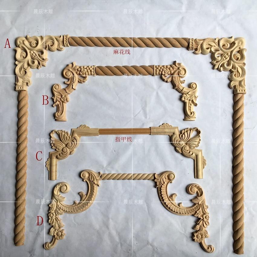4pcs/lot,European Style Wooden Carved  Corner Flower Decoration Furniture Door Decoration(A763)