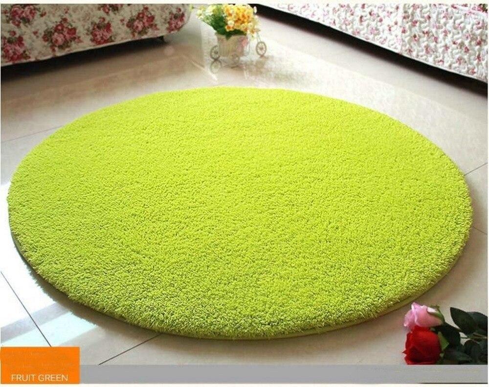 Nicerug Living Room Carpet Sofa Coffee Table Round Floor Mats Anti Skid Fluffy Area Rug