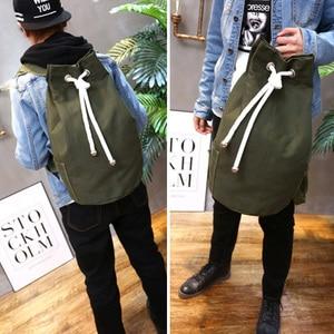 Image 5 - Men Gym Bag Drawstring Backpack Bucket Sports Basketball Bags For Women Fitness Canvas Rucksuck Sac De Sport Mochila XA718WA