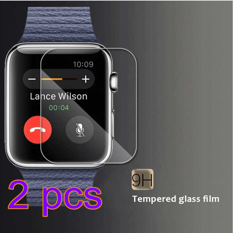 2Pcs/Lot For Watch Series 4 3 2 1 Screen Protector Glass 9H Hardness Scratch For Apple Watch Tempered Glass 44 42 40 38mm
