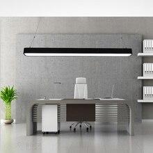 Современные офисные светильники подвесные светильники минималистский округлые границы led офиса прямоугольный алюминиевый узкую полоску office подвесной светильник