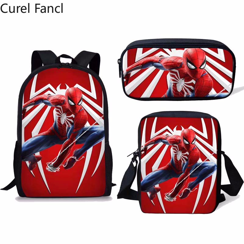Kids Baby Boy Girl Spiderman Stuffed Toy Backpack Schoolbag Toddler Shoulder Bag