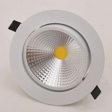 Dimmable 9W/15W/20W COB LED Downlight Recessed Ceiling recessed led lighting lamp 85-265V Warm/Cold White 1pc free shipping