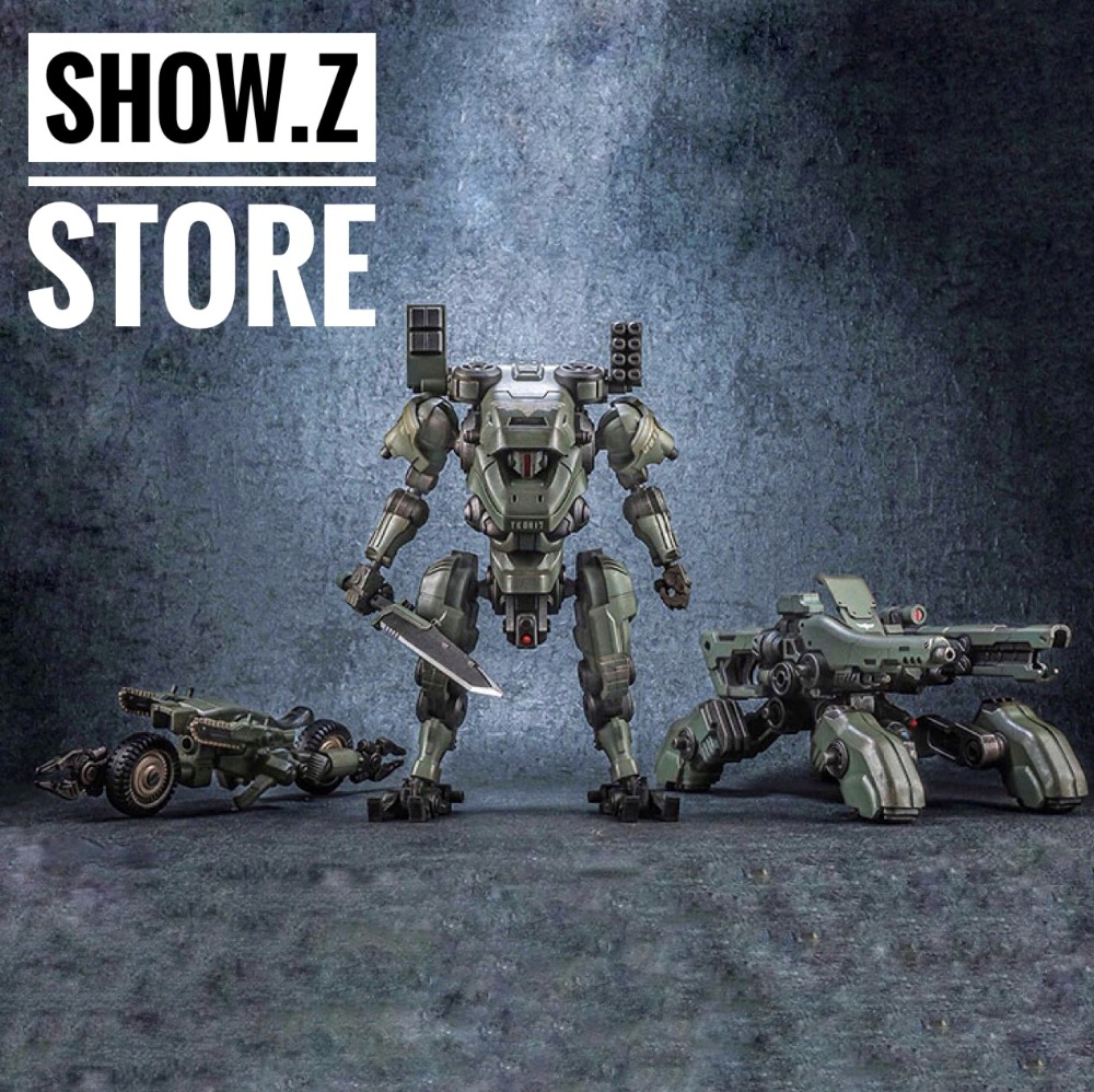 все цены на [Show.Z Store] JoyToy Source Acid Rain TK01 Tiekui Mech & Multifuctional Vehicle & Turret Green Version Action Figure онлайн