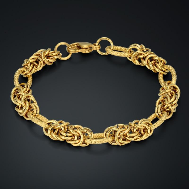 Fashion Chains Men Women Chain Bracelet Gold Color Funny ...