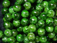 Free Shipping 30 Beads Set Natural 10 10 5mm Green Chrome Diopside Smooth Round Loose Strand
