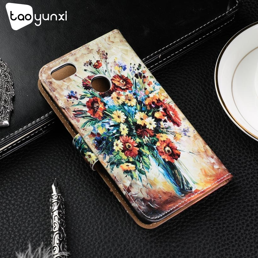 TAOYUNXI Case For <font><b>Huawei</b></font> P9 Lite Mini Case for <font><b>Huawei</b></font> Nova Lite <font><b>2017</b></font> Flip Leather Case Enjoy 7 <font><b>Y6</b></font> Pro <font><b>2017</b></font> Cover SLA-L22 SLA-L02 image