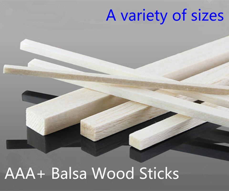 500mm long 2/3/4/5/6/8/10/12/15/20mm wideth AAA+ Balsa Wood Sticks Strips for airplane/boat model Fishing DIY free shipping sport scale plane t 6a texan ii rc airplane gas 8 ch 30cc 78 7 balsa wood model