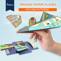 Mideer Children Creative 36pcs Origami Paper Planes Folding DIY Kindergarten Handmade Origami Aircraft Educational Toys