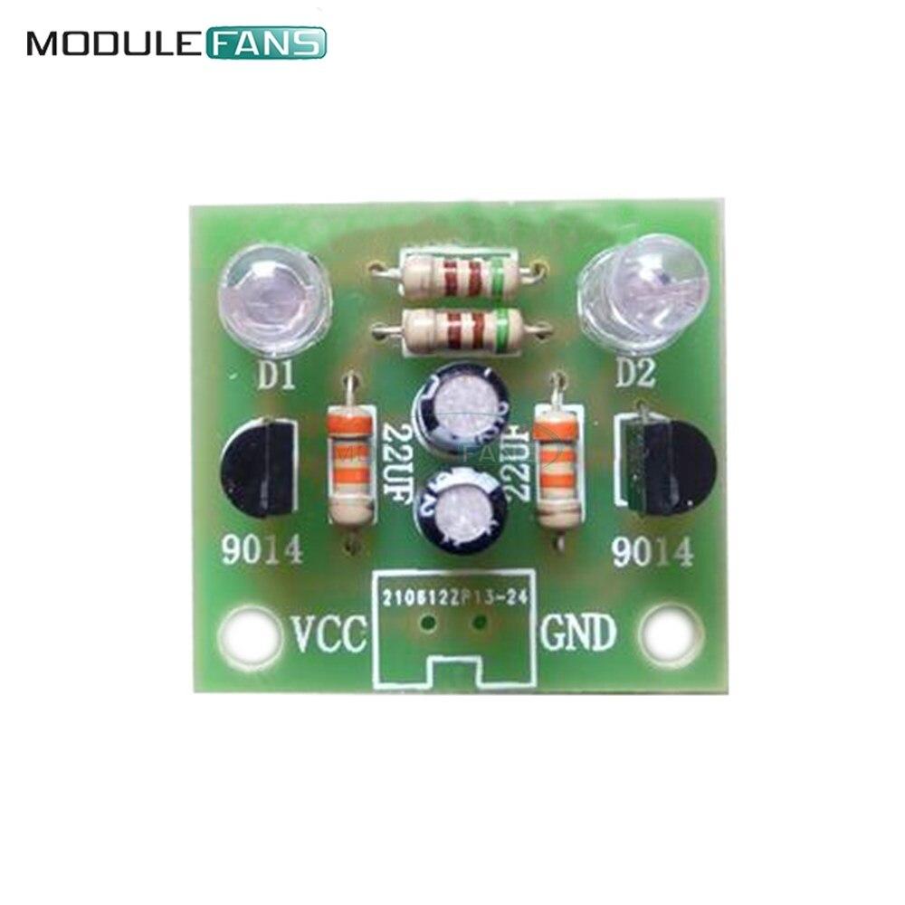 10pcs Lot Diy Kit Simple Flash Led Light Circuit Flashing Using Opamp 5mm Blue Module Transistor 30k Resistance 22uf Electrolytic Capacitors