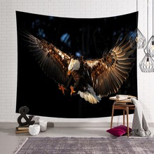 Flying Eagle Pattern Tapestry Wall Hanging Animal Art for Wall Sofa Bed Decoration Blanket Beach Towel Bedspread Accessories