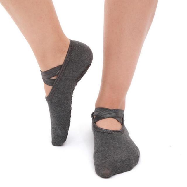 Women's Anti-Slip Criss Cross Yoga Socks