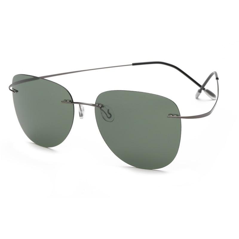 With Case Polarized Titanium Sunglasses Polaroid Brand Designer Rimless Gafas Men Sun Glasses Sunglasses For Men