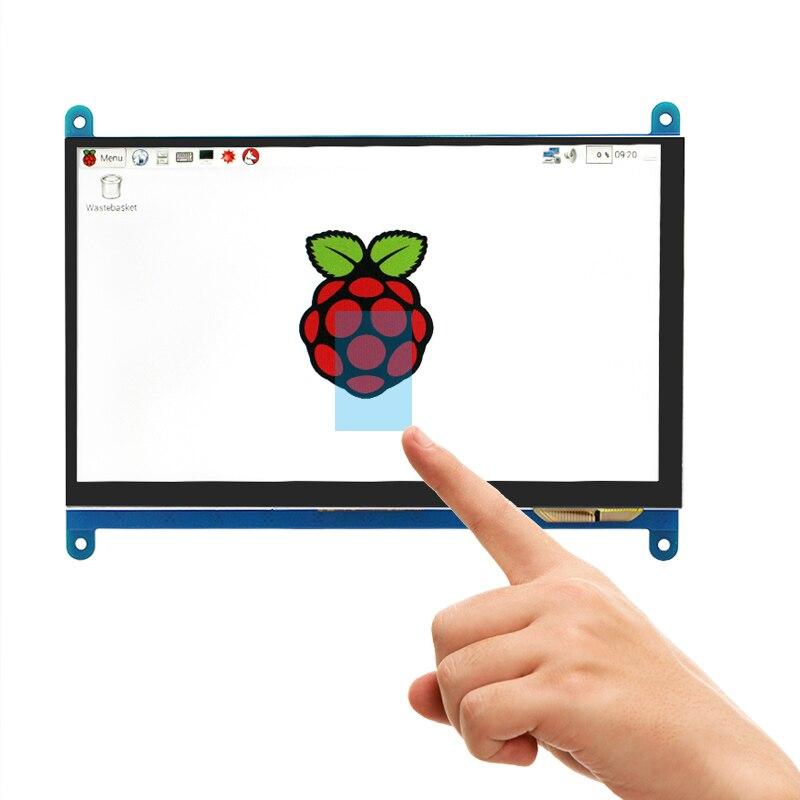 7 pouce Framboise Pi 3 Modèle B + LCD Affichage à L'écran Tactile LCD 1024*600 800*480 HDMI TFT Moniteur + Titulaire Cas pour Raspberry Pi 3 - 2