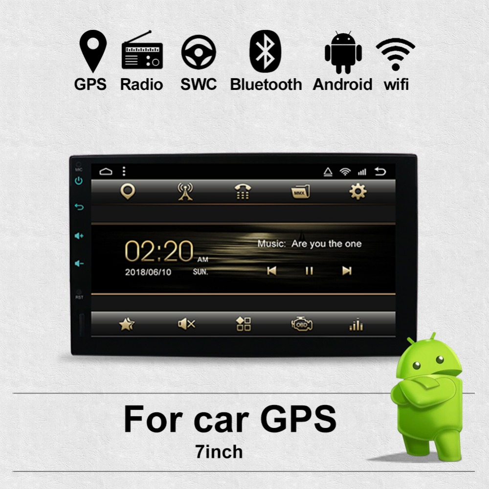 цена на Car dvd player 2 din android radio bluetooth GPS Navigation wifi Stereo video 7 inch 1024*600 Universal in Car Multimedia Player