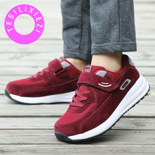 TESILIXIEZI Women's Shoes Casual Sport Fashion Shoes Walking Flats Sneakers Ladies Walking Trainers Zapatillas Deportivas Mujer все цены
