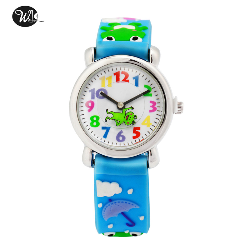 Children's Watch 3D Strap Cartoon Boy Girl Frog Prince Quartz Watch Pointer Electronic Waterproof Watch Child Watch