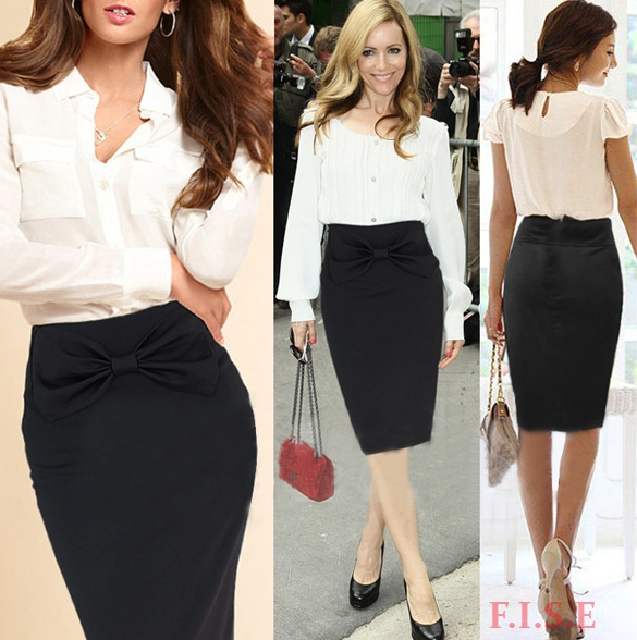 What To Wear With A Black High Waisted Skirt - Dress Ala