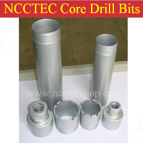 NCCTEC Diameter 102mm,600mm long Diamond Core Drill Bits with separated structure | 4''*24'' concrete wall wet core bits pits diameter 83 89mm concrete drill bits 83 450mm diamond core drill bit 89 450mm core drill bits 450mm diamond wall hole saw