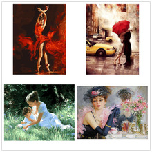 beautiful bride  oil painting home decoration hand-painted Painting for Numbers