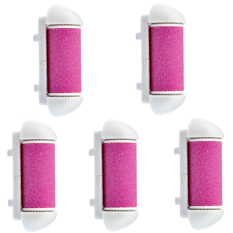 5pcs Replacements Roller Heads Pedicure Foot Care for Feet Electronic Foot File Rollers Skin Remover Accessories Dead Ski electric antistress therapy rollers shiatsu kneading foot legs arms massager vibrator foot massage machine foot care device hot