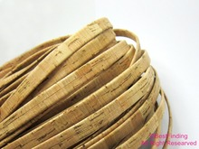 10mm Cork leather Natural 10x2mm Cork leather cord цена