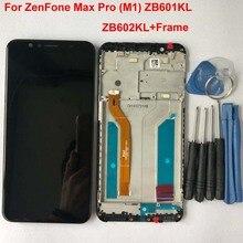 """100% Original pour 5.99 """"ASUS ZenFone Max Pro M1 ZB601KL ZB602KL écran LCD + écran tactile panneau numériseur avec cadre X00TD X00TDB"""