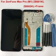"""100% oryginalny dla 5.99 """"ASUS ZenFone Max Pro M1 ZB601KL ZB602KL wyświetlacz LCD + ekran dotykowy panel digitizer z ramką X00TD X00TDB"""