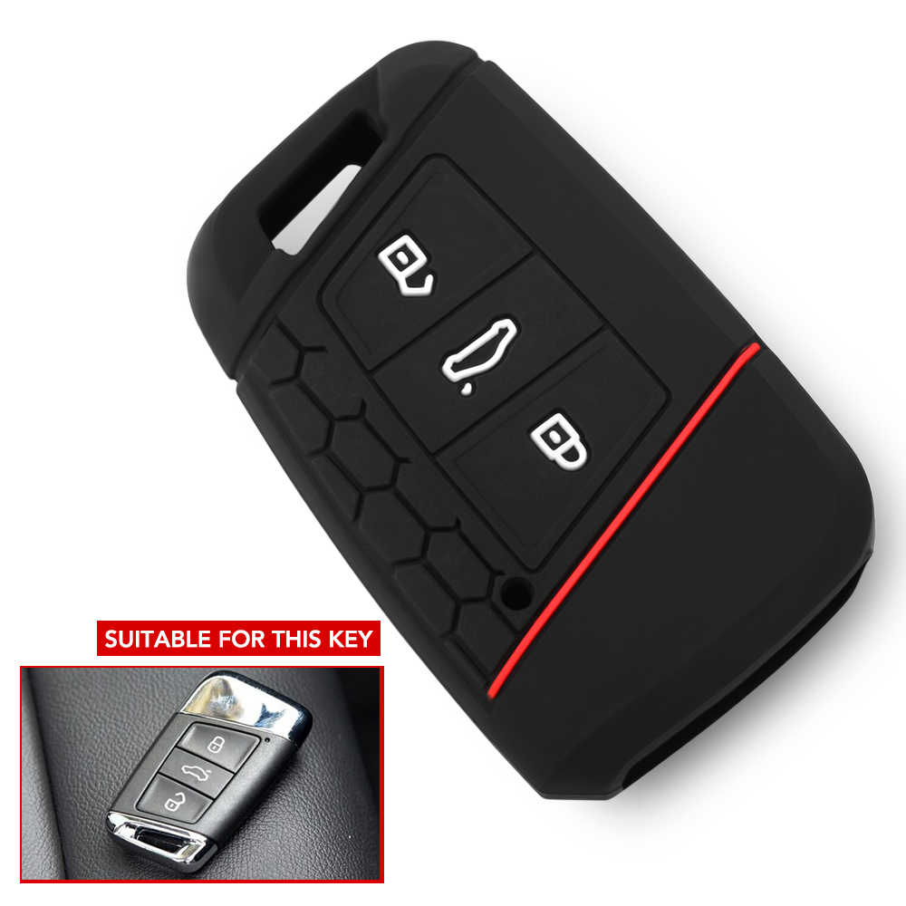 Silicone Key Case Cover Voor VW PASSAT B8 Voor Skoda Kodiaq Superb A7 2015 2016 2017 2018 2019 2020 Keyless fob Shell Skin Houder