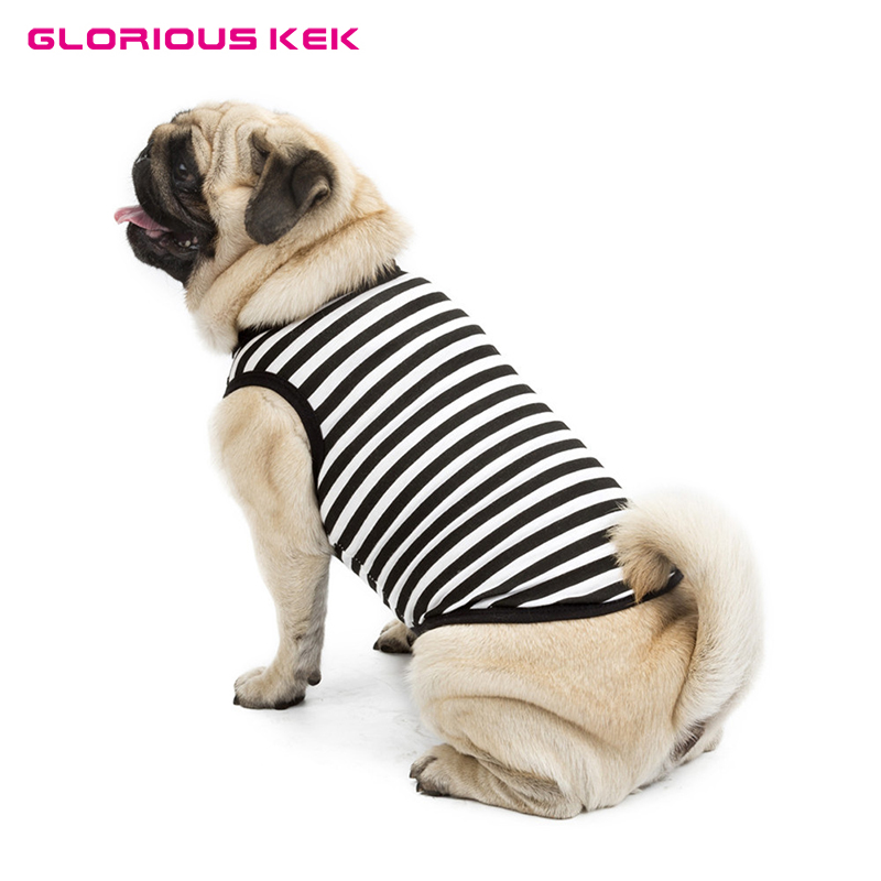 Dog Clothes Summer Stripe Dog T Shirt Pet Small Dog Clothes Cotton Breathable Colorful Vest Shirt for Bulldog Chihuahua Pugs