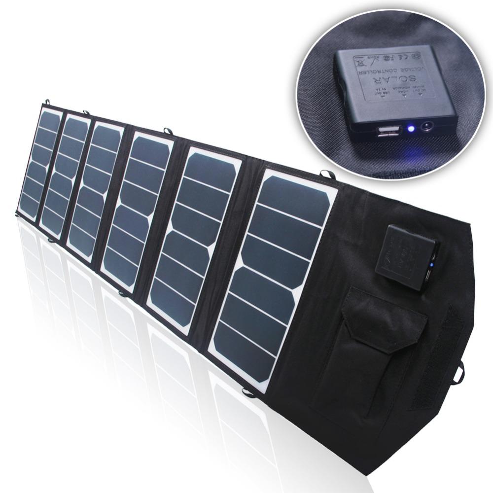 Prix pour 39 w 18 v/5 v Double sortie étanche en plein air pliant pliable panneau solaire chargeur externe 12 v batterie dispositif chargeur pour Ordinateurs Portables