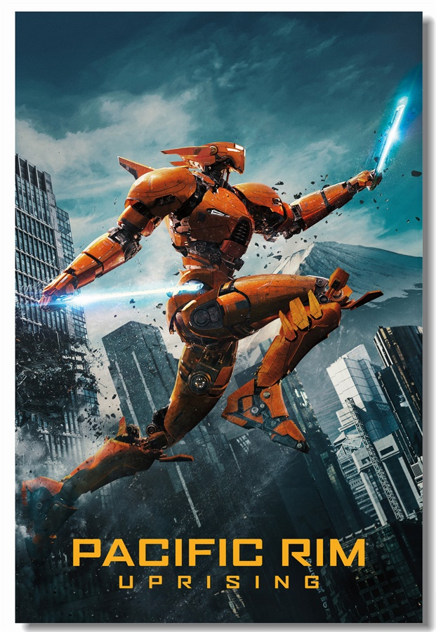 Custom Canvas Wall Decals Pacific Rim Uprising Poster Pacific Rim Wall Stickers Saber Athena Mural Gipsy Danger Wallpaper #0370#