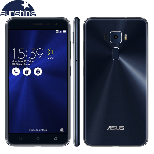 Original Asus ZenFone 3 ZE552KL LTE 5.5'' 16.0MP Mobile phone Qualcomm Octa-core 4G RAM 64G ROM Fingerprint Cellphone