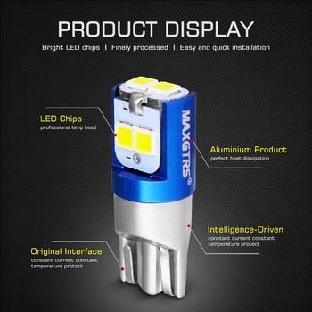 2 pièces W5W 3030 SMD voiture T10 LED 194 168 cale remplacement inverse tableau de bord lampe blanc bleu ampoules pour feux de dégagement 1
