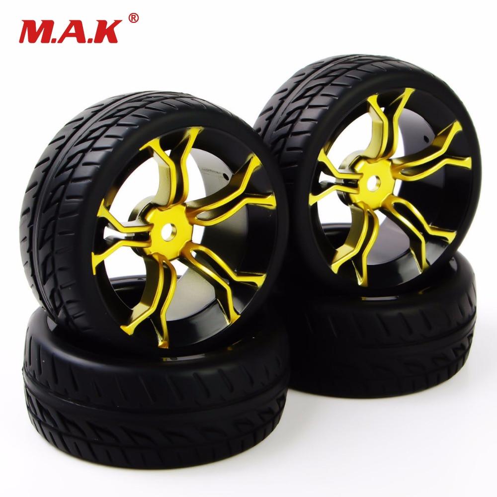 4pcs rc car tires rubber tyre wheel rim for hsp hpi rc 1 10 flat racing on road car tires. Black Bedroom Furniture Sets. Home Design Ideas