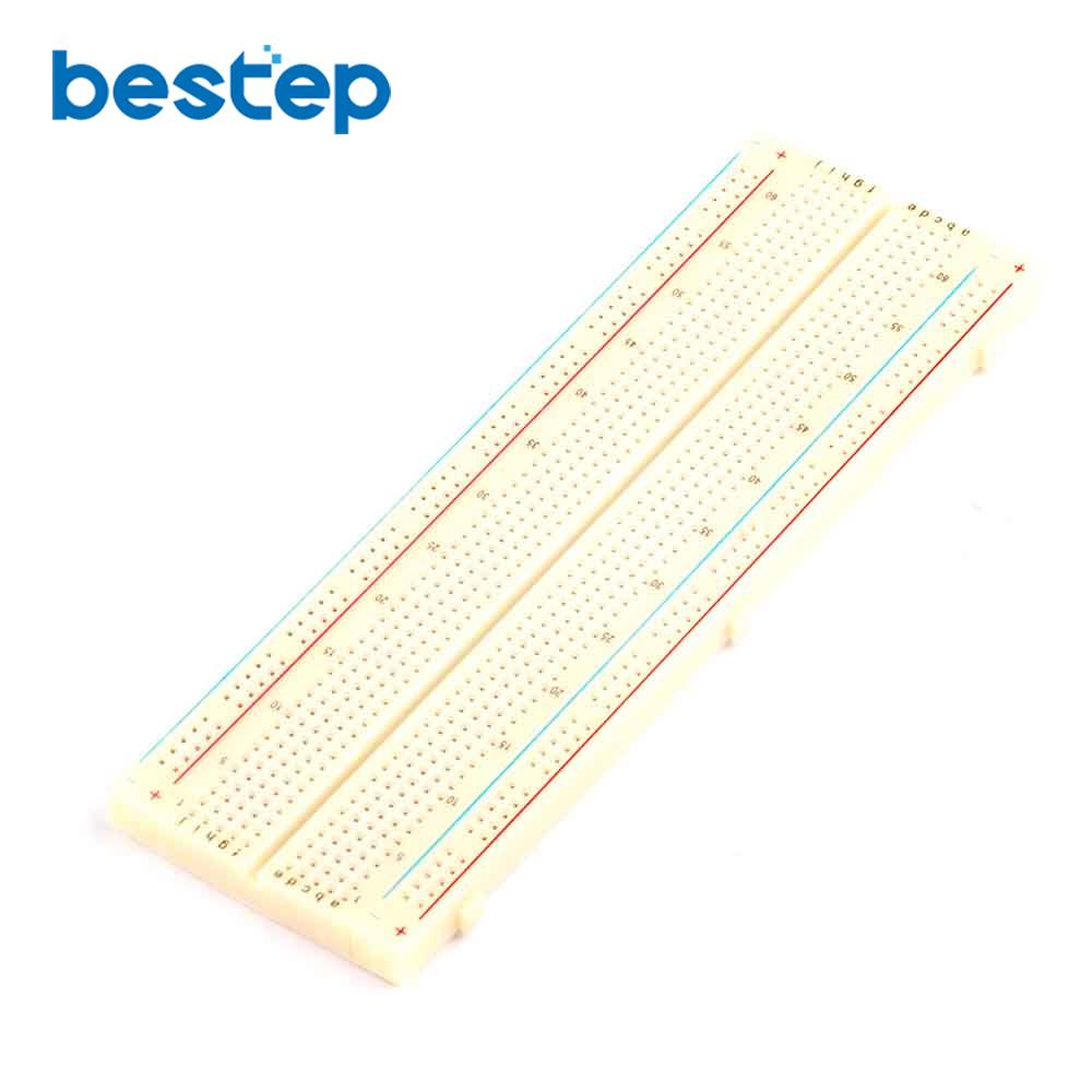 MB-102 MB102 Breadboard 830 Point Solderless PCB Bread Board Test 165*55*10mm
