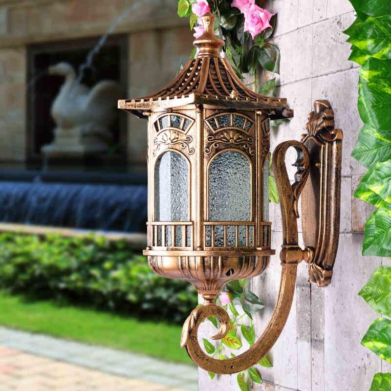 outdoor door balcony lamp waterproof garden light creative villa exterior wall sconce retro porch lighting