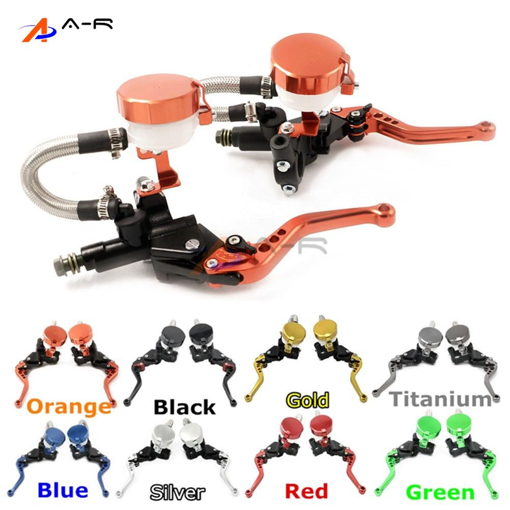 CNC 22MM 7/8'' Clutch Brake Levers Master Cylinder Reservoir for Ducati MS4/MS4R 2001-2006 748/750SS 1999-2002