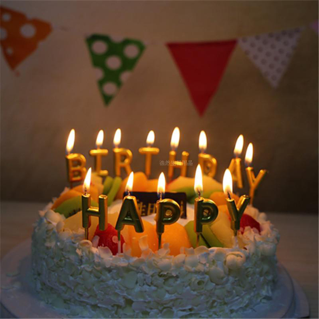 Amazon 24 Count Party Long Thin Cake Candles Metallic Birthday In